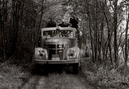 Hemtransport efter gökotta på Bökkullen