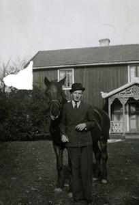 Ingvard Åhman med hästen
