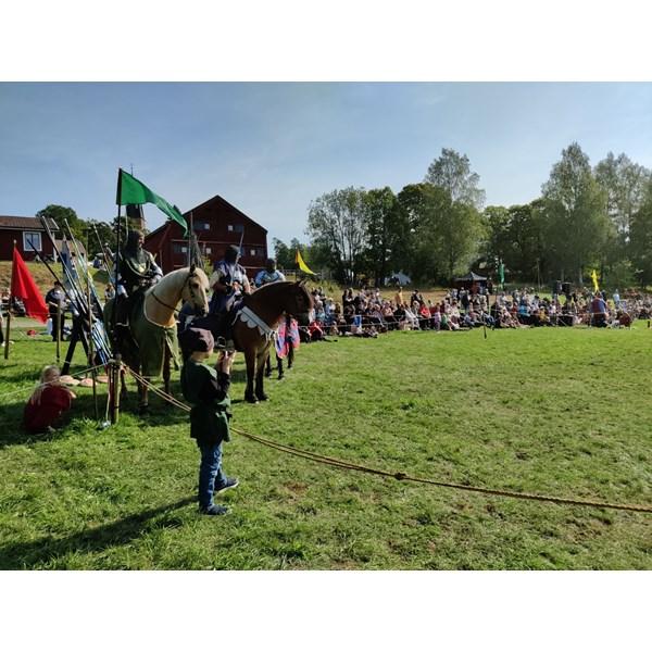 Riddare på Alnö hembygdsförenings Medeltidsdagar