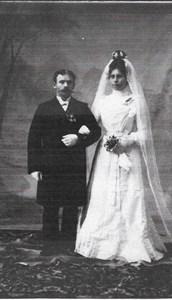 Brudkort Paret Lundbäck 1902
