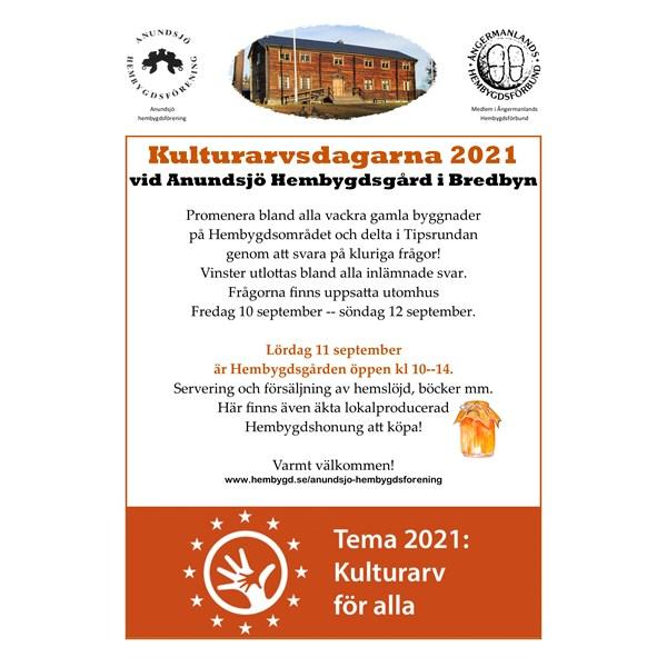 Kulturarvsdagarna 2021 vid Anundsjö Hembygdsgård i Bredbyn