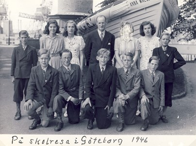 Askome 502 Gamla skolan, Skolresa 1946