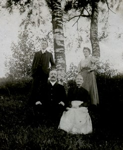Skomakare Johan August Karlsson med familj, Lågastorp 101, Hörabacken.