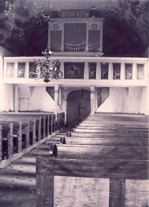 Askome kyrka interiör, troligen 1921