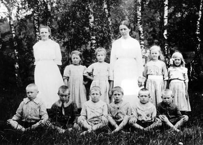 Askome 502, Gamla skolan, skola 1918