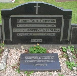 Emil och Josefina (Fina) Persson, Johan Persson, Hansabo 150, Askome