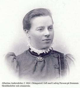 Askome 403, Stommen. Albertina Andersdotter.