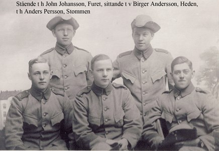 John Johansson, Hansabo Furet 141, Biger Andersson, Lägastorp 120 Tallbacken, Anders Persson, Askome 403 Stommen.