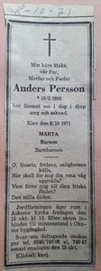 Anders Persson, Klev 110, Askome