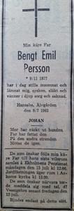 Emil Persson, Hansabo 150, Askome
