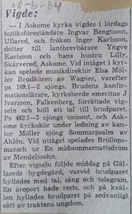 Inger Karlsson, Skärvered 115, Askome
