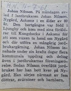 Johan Nilsson, Nygård 124, Askome
