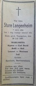 Sture Langenheim, Hede 110