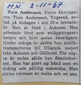 Ture Andersson, Yngered 118