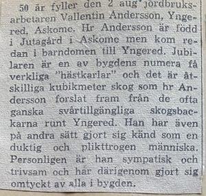 Vallentin Andersson, Yngered 118