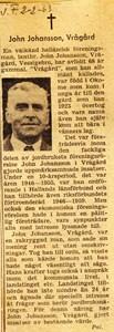 John Johansson, Vrågård Askome 405