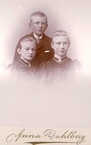 Syskonen Sigrid, Ellen och Arvid Johansson, Jutagård, Askome