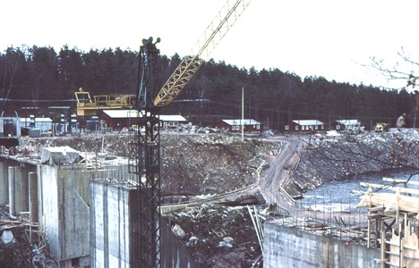 Bygget i Boaforsen.