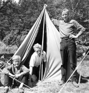 På klubbodlarläger 1955.