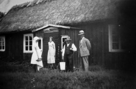 Päars torpstuga på Veken. Bilden är tagen omkring 1935