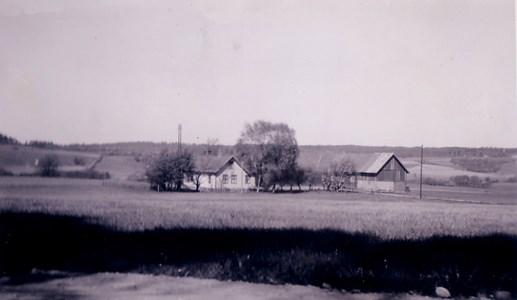 Gården Hede 224, Askome, fotograferad år 1950.