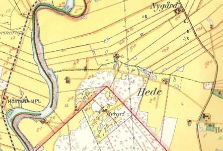 Karta över Hede 231, 224, 204.
