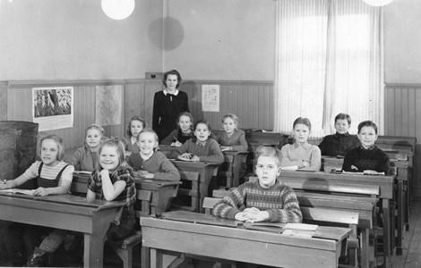 Aspö skola år 1947 Klass 3 och 4.