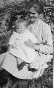 Jenny Ekström och sonen Olle