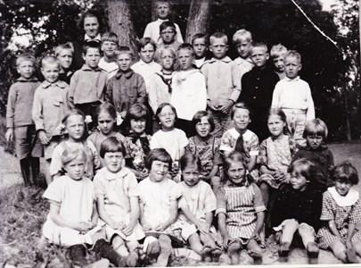 Aspö skola 1928-1929 klass 1 och 2