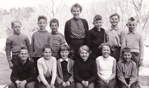 Aspö skola  klass3-4 1957