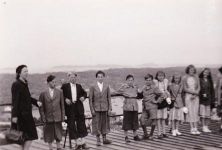 Aspö skola Klass 5-6 skolresa Göteborg omkring 1950