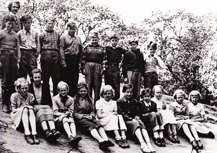 Aspö skola klass 5-7 våren 1954