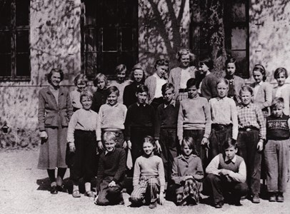 Aspö skola klass 3 - 6 våren 1953