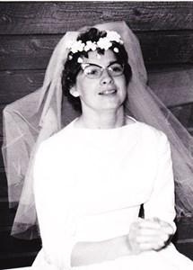 Ebba Karlsson på bröllopsdagen1960