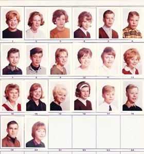 Tosterö skolan 1963-1964 klass 7-8
