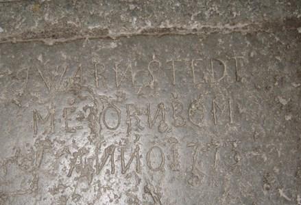 Johan Waernstedts grav i Bergshammars kyrka
