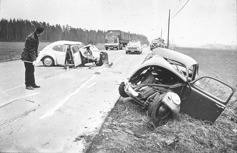 Trafikolycka vid Berga-Tuna