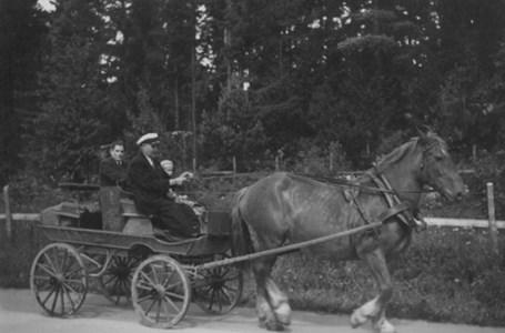 Gustav Lönn på väg mot Nyköping