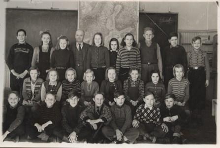 Skolkort från Bergshammars skola
