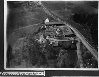 Flygfoto över Ekeby gård 1931
