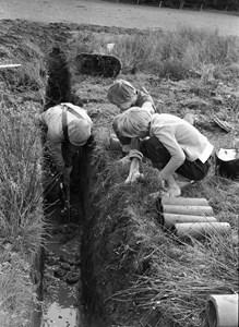 Täckdikning i mitten av 1950-talet