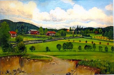 Lyckhem och Annelund målad 1949