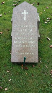 Grav BR AIII, Gustav Adolf Catoni och Kristina Catoni.