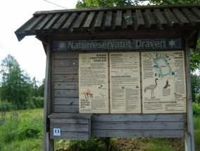Informationstavla, naturreservatet Draven.