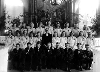 Konfirmationskort 1931, Bredaryds kyrka.