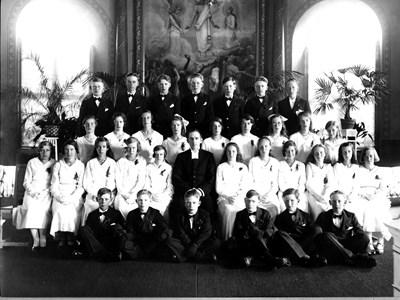 Konfirmationskort 1933, Bredaryds kyrka.