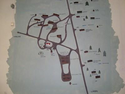 Karta.Krigssjukhusets område