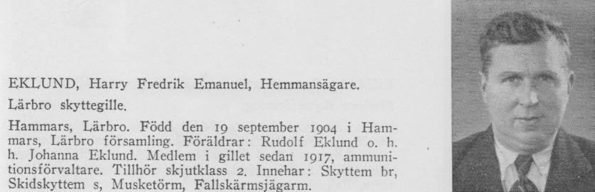 H Eklund.