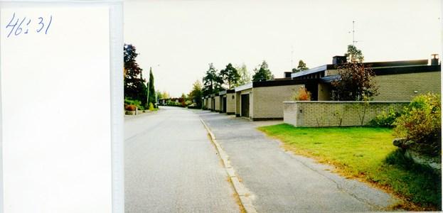 46.31 Kv Tranbäret radhusen från söder, Skogsgatan 28-20
