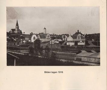 007.15 Stadens fotografier 1 - Vy över centrala Örnsköldsvik 1916